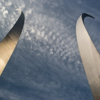 Blue Sky over the Air Force Memorial