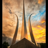 Dramatic Sunset at Air Force Memorial