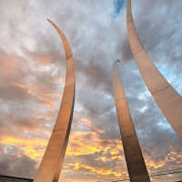 Dramatic Sunset at the Air Force Memorial #2