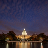U.S. Capitol Clouds after Sunset