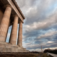 Storm Clouds from Lincoln Memorial