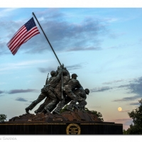 Super Full Moon over the Iwo Jima Memorial
