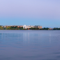 Washington DC Autumn Tidal Basin Panorama