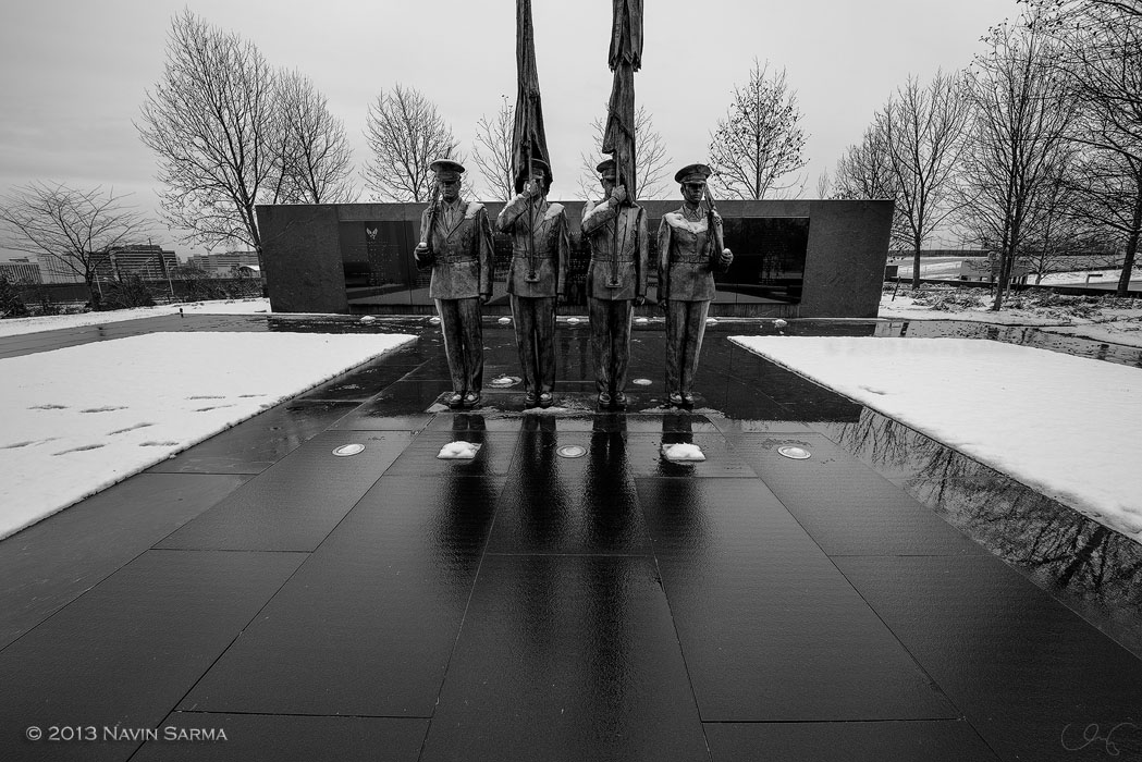 Air Force Memorial Honor Guard in Winter