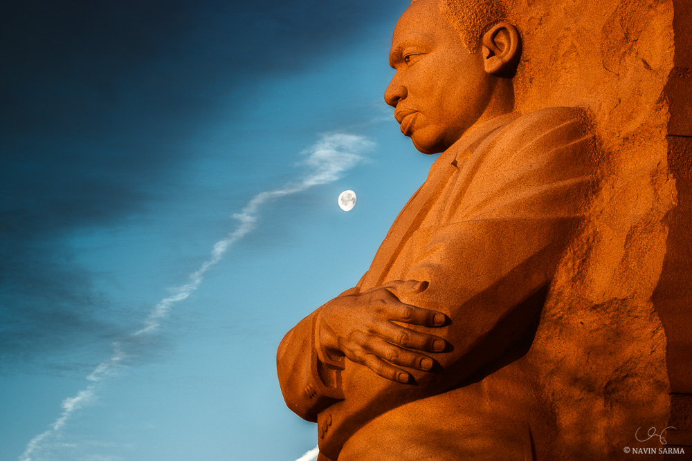 Moonrise at the Martin Luther King Memorial