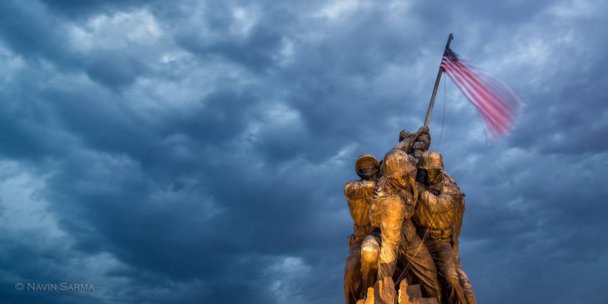 Iwo Jima Memorial Blue Clouds