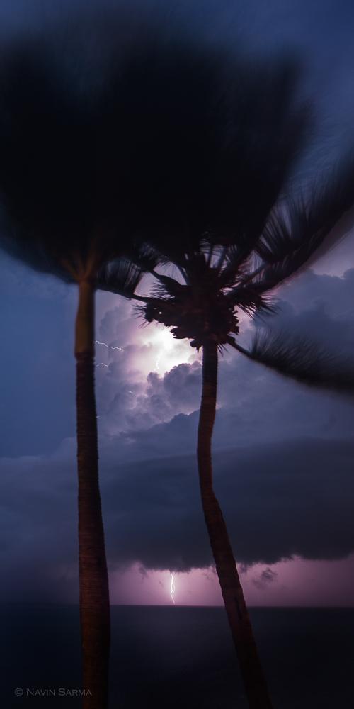 Lightning hurricane Bertha Puerto Rico