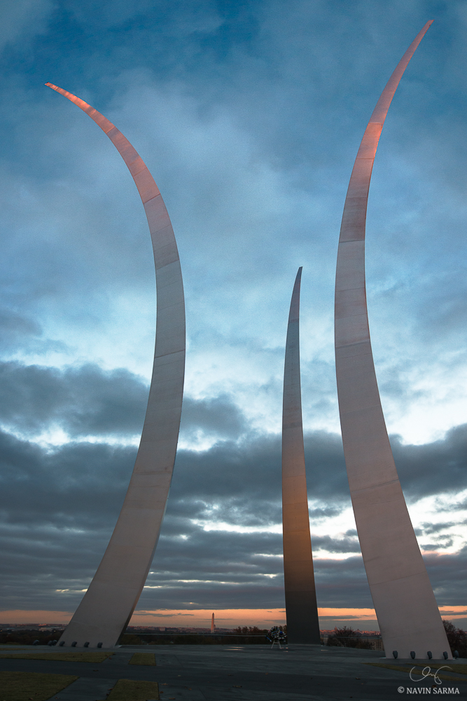Air Force Memorial Veteran's Day Sunset