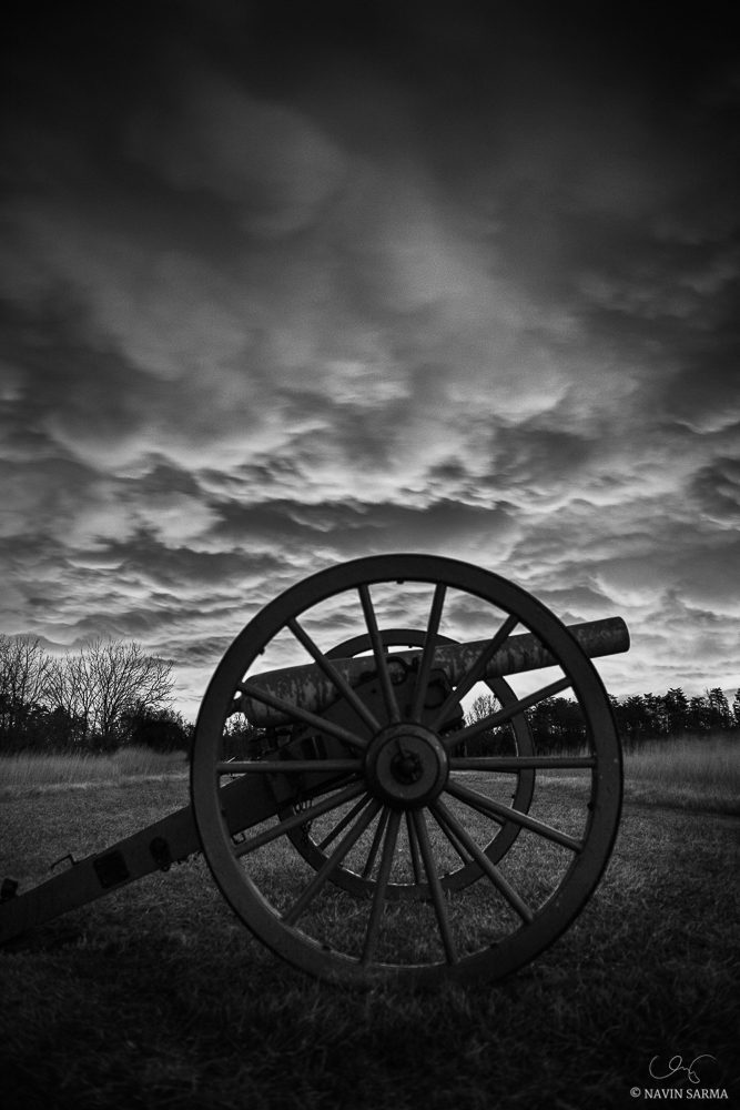 Manassas Battlefield Park Black and White
