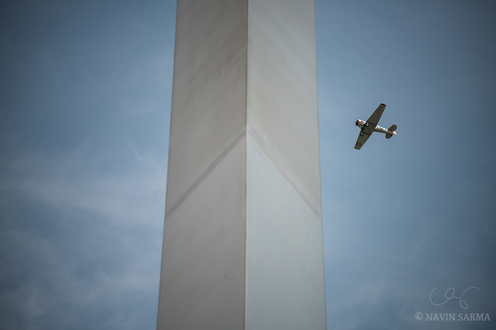 Air Force Memorial WWII Flyover