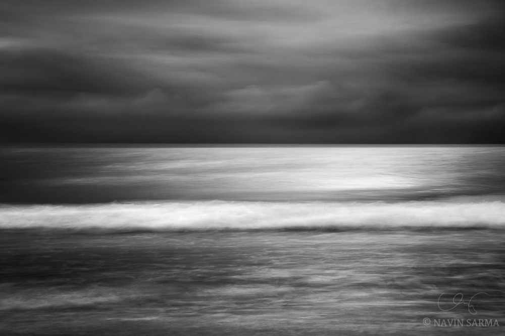 A long exposure effect created by camera movement over Clearwater Beach, Florida