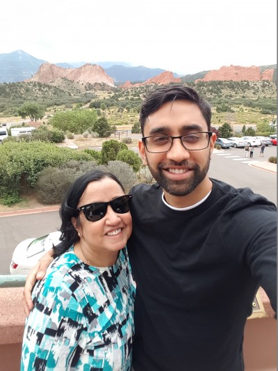 My mom's (30th haha) bday trip! This is us at Garden of the Gods