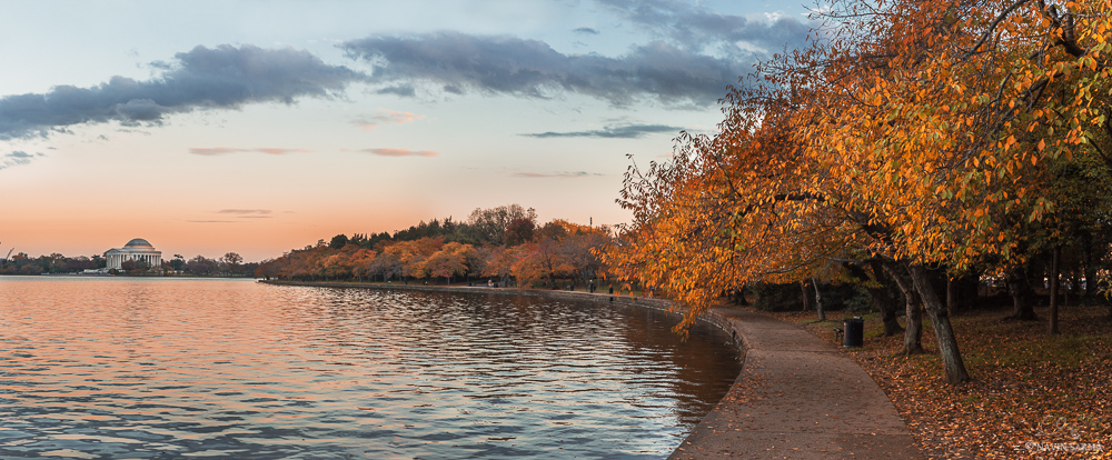 Jefferson Memorial Autumn Panorama