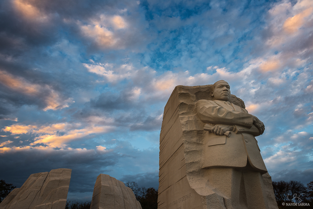 Sunset at the Martin Luther King Memorial