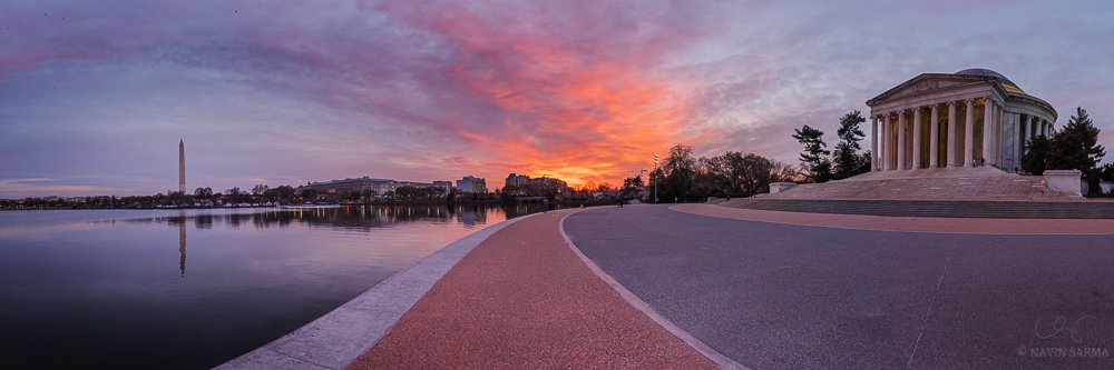 Tidal Basin Sunrise Panoramic