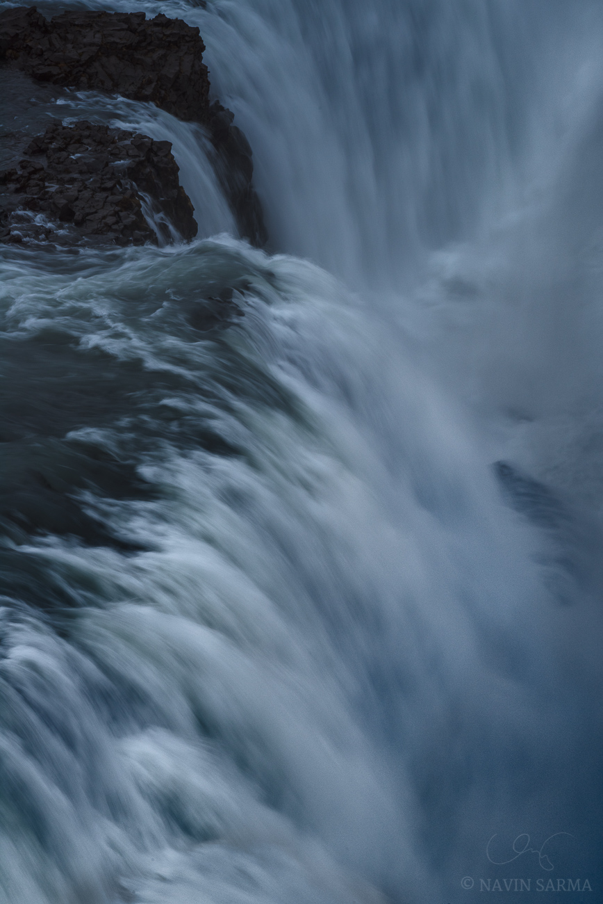 Gulfoss Abstract - The most violent section of the Gulfoss waterfall captured under overcast skies