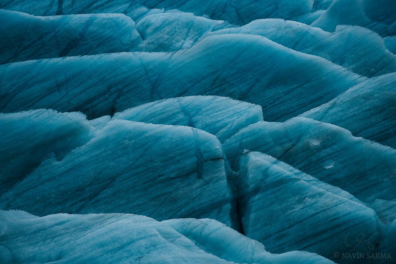 Shark Fins - An abstract of the sheer shapes of the Vatnajökull glacier