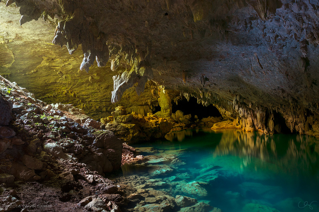Where dark finally meets light at the Crystal Cave, Belize.