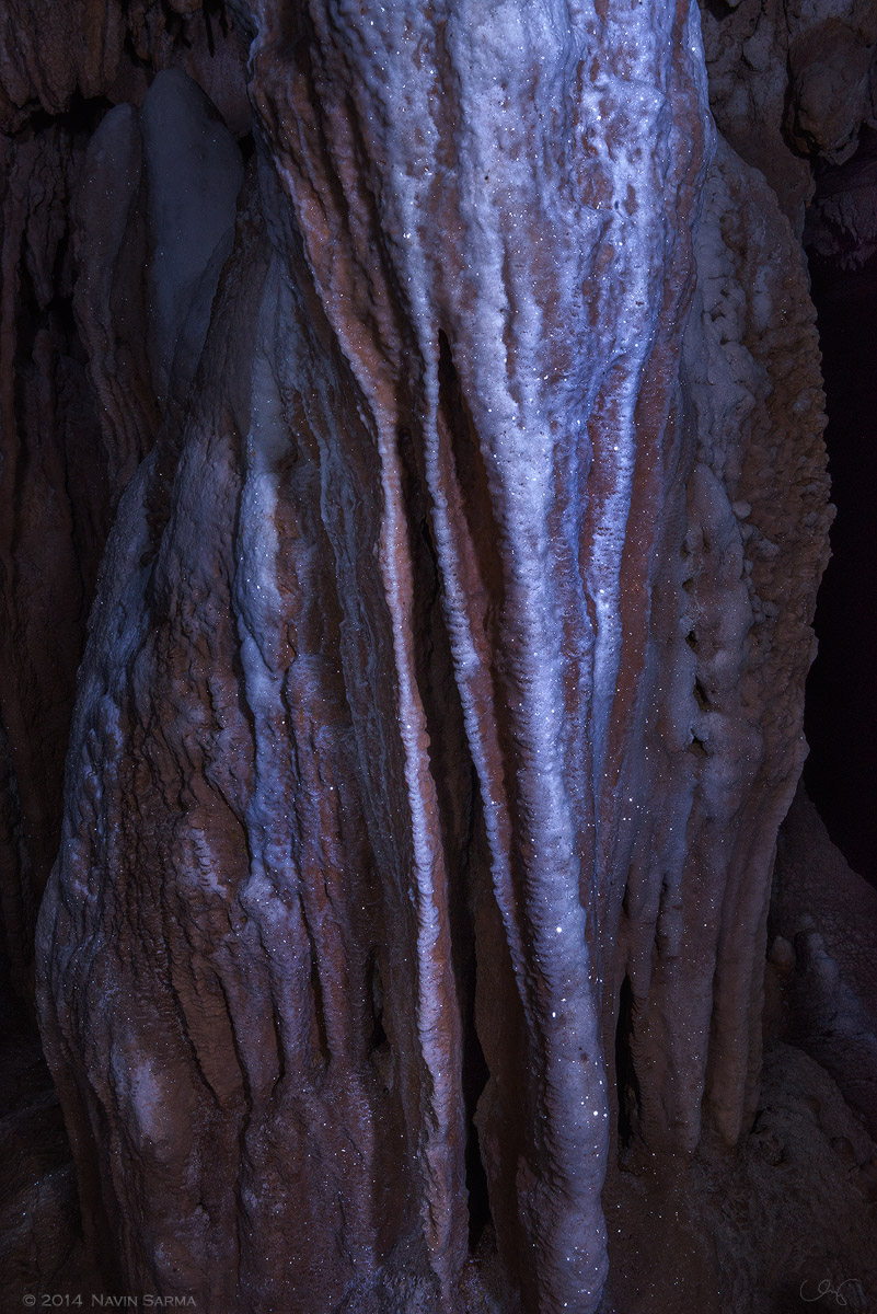Shiny Formations resemble an elephant at Crystal Cave, Belize