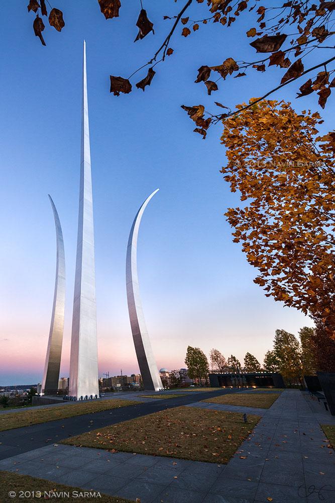 Air Force Memorial Twilight in Autumn