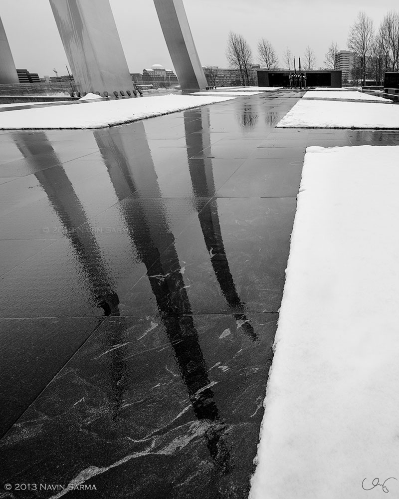 Reflection Air Force Memorial Winter