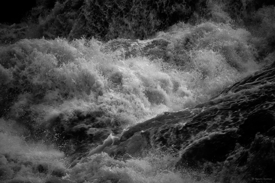 photo print of great falls abstract reflection
