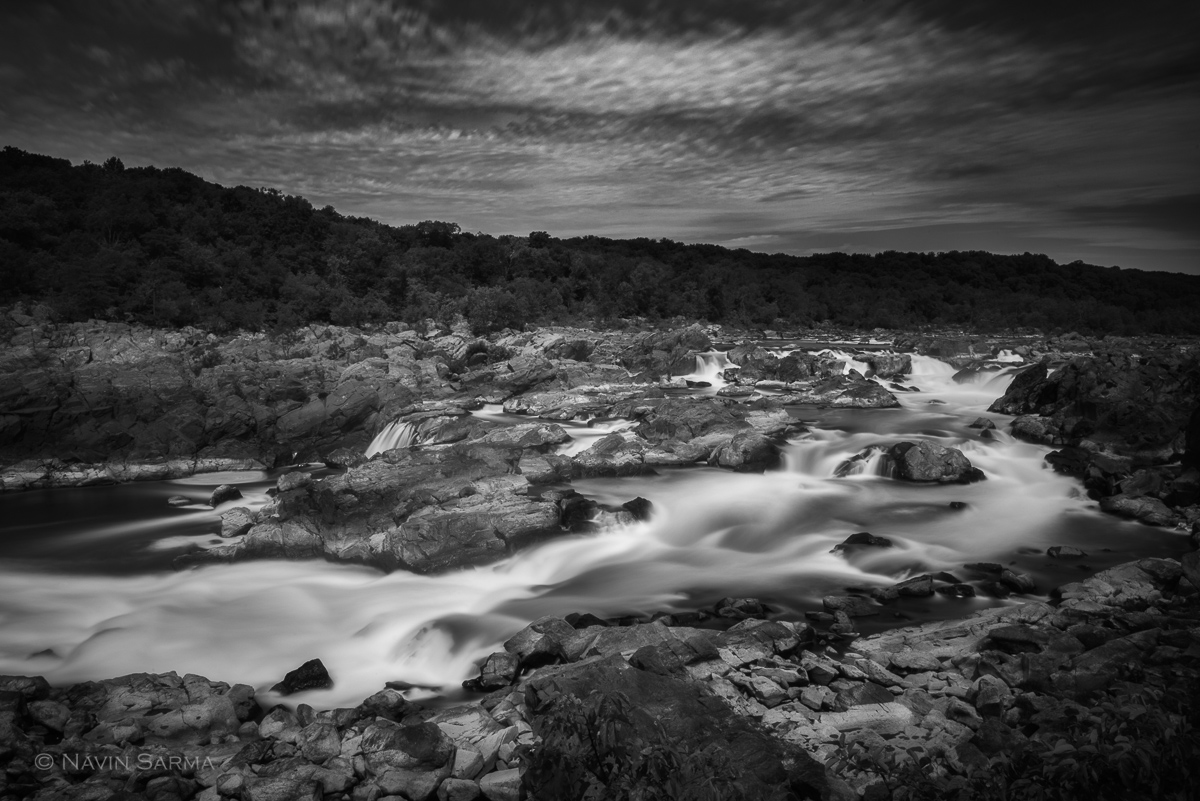 A long exposure at mid-day at Great Falls Park on the Maryland side