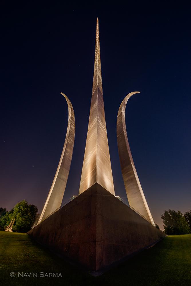 Air Force Memorial Blue Night