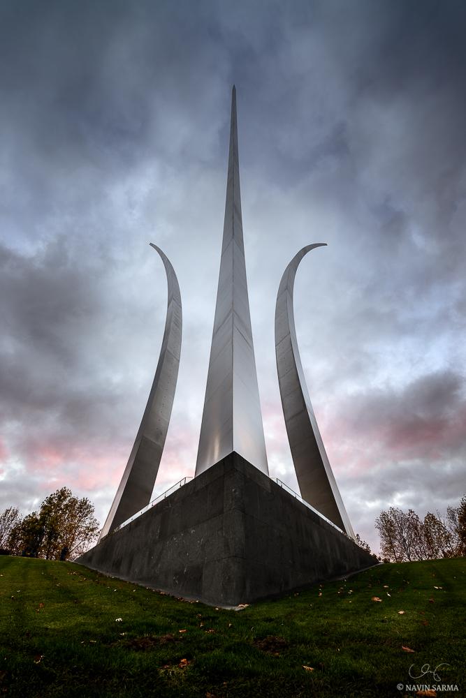 Air Force Memorial Pink Sunset