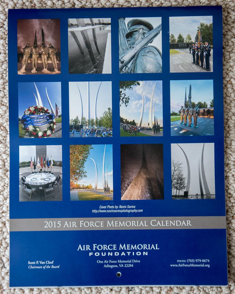 Air Force Memorial Calendar and Brochure