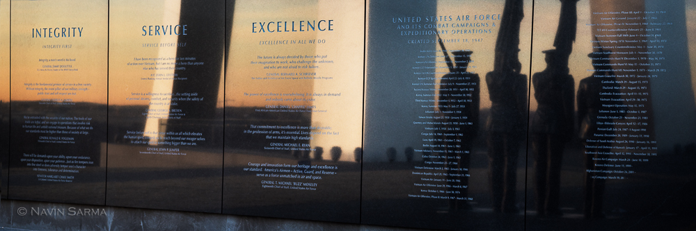 The Air Force's values as reflected at the Air Force Memorial
