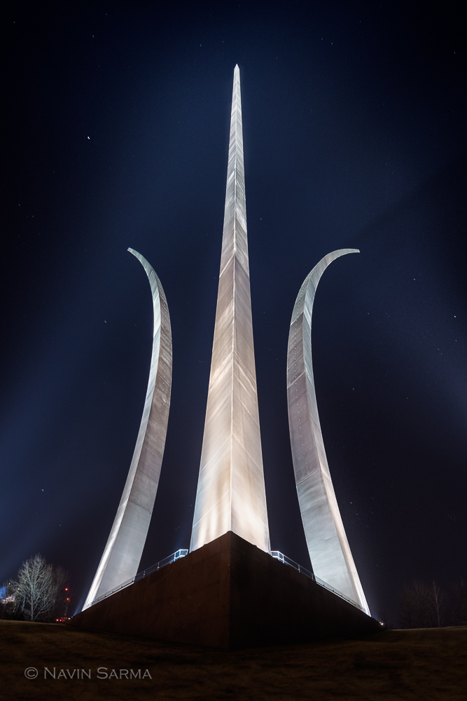 Air Force Memorial Under the Stars