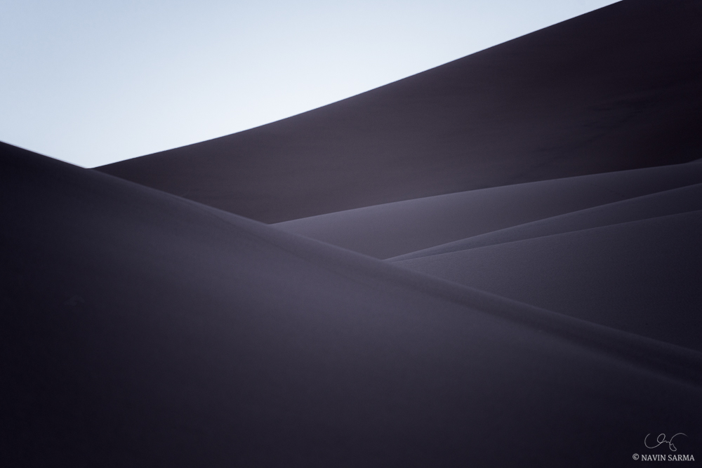 Curves interplay from the edges of dunes at Great Sand Dunes National Park
