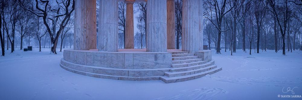 DC War Memorial Snow Panorama
