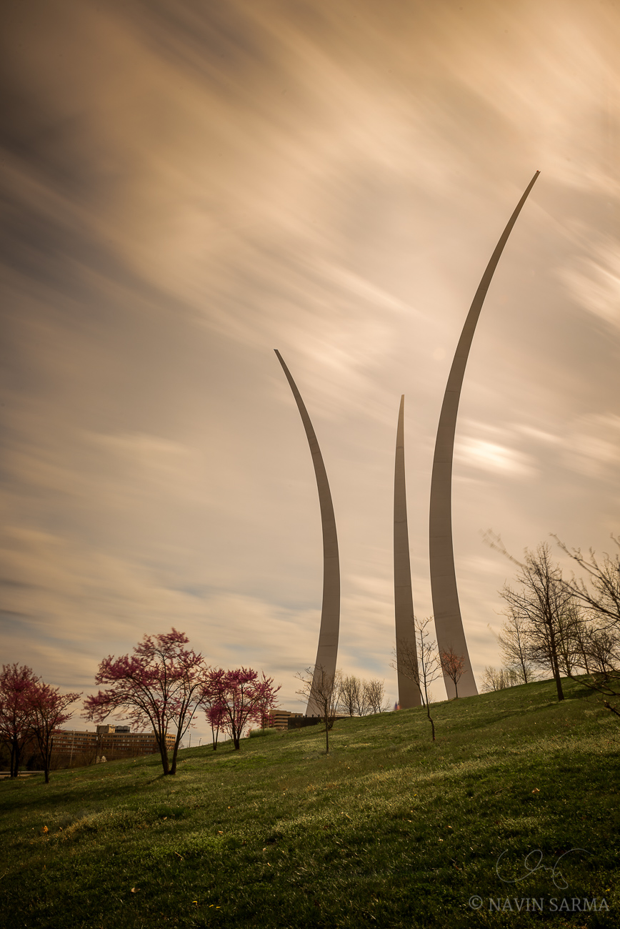 Air Force Memorial Cherry Blossom Long Exposure