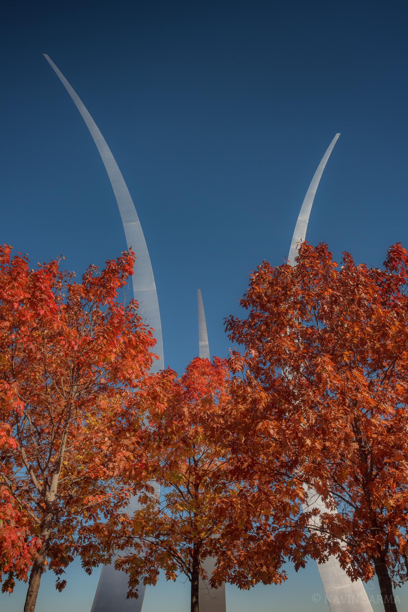 Air Force Memorial in the Fall