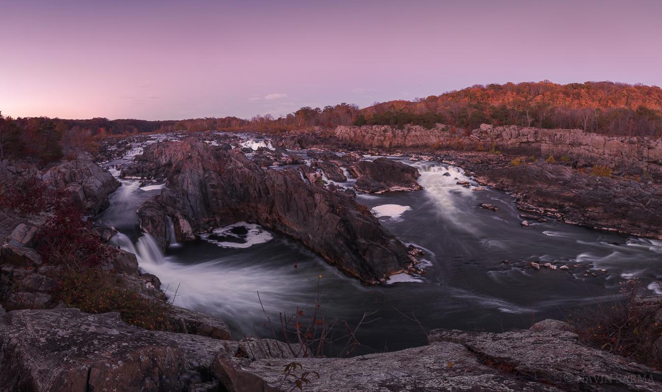 Great Falls Autumn Panorama