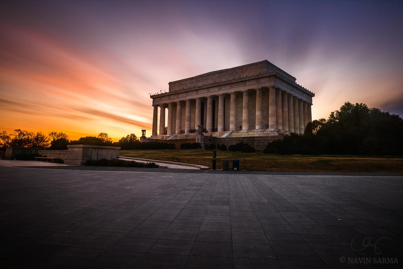 Long Exposure Lincoln Memorial Sunset