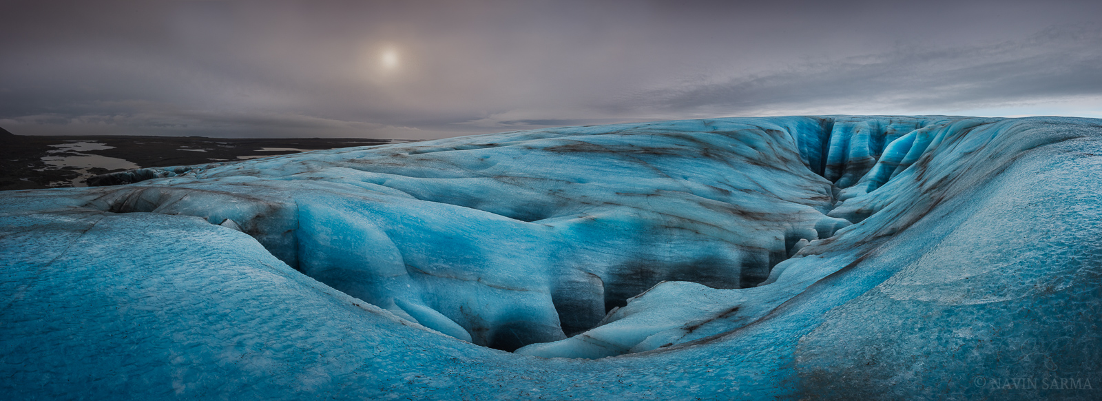 What Lies Beneath - A massive crevasse canyon created by meltwater on top of the Vatnajökull glacier